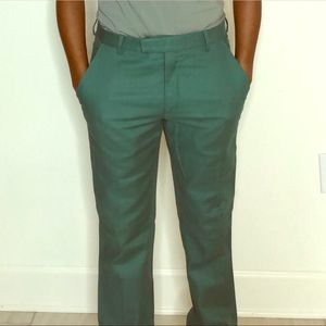 Green dress pants